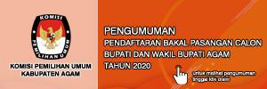 KPU Kabupaten Agam - Pendaftaran Bakal Calon Bupati