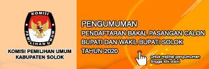KPU Kabupaten Solok - Pendaftaran Bakal Calon Bupati