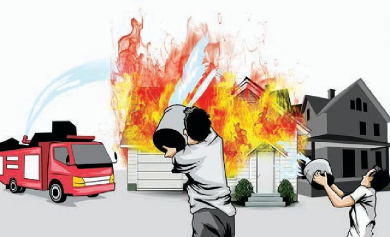 Ilustrasi kebakaran rumah.(Dok : Istimewa)