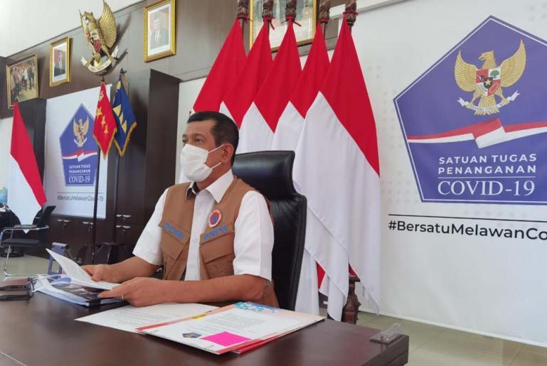 Kepala BNPB Doni Monardo saat melakukan webinar, di Jakarta, Selasa (29/12). (Dok : Istimewa)