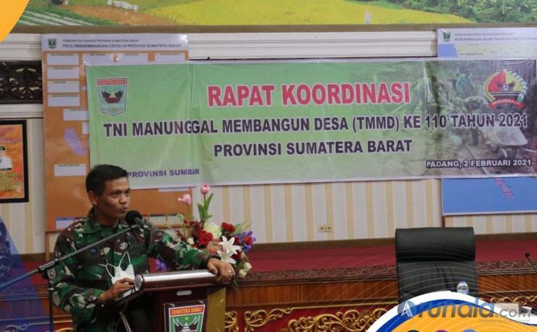 TMMD ke-110 Sumbar Tahun 2021 Dimulai Ada Lima Kabupaten Tempat Pelaksanaan