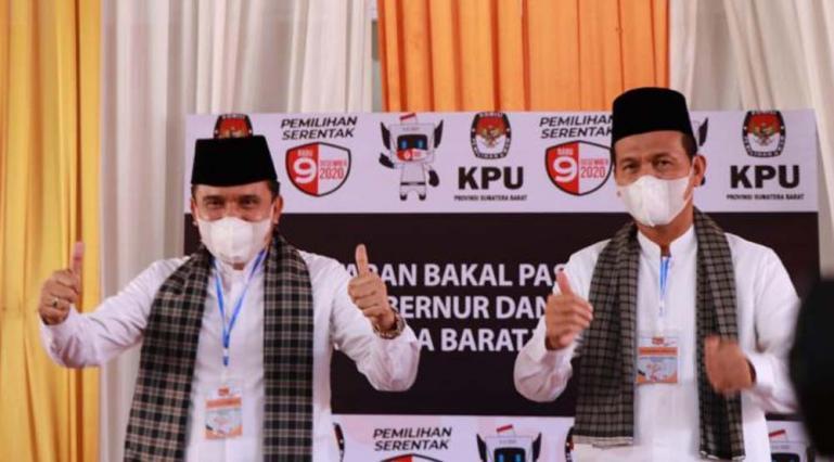 Paslon Gubenur dan Wakil Gubernur Sumbar Fakhrizal-Genius Umar. (Dok : Istimewa)