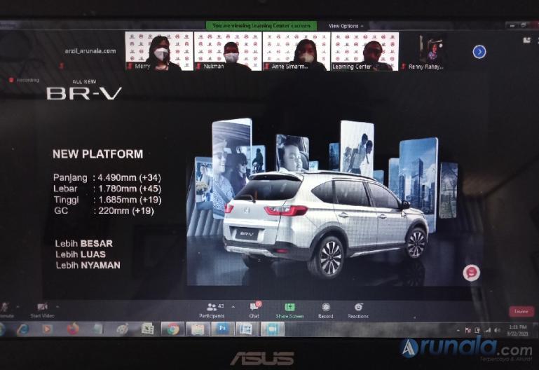 Suasana virtual press conference terkait kehadiran All New Honda BR-V, Rabu (22/9). (Foto : Arzil)