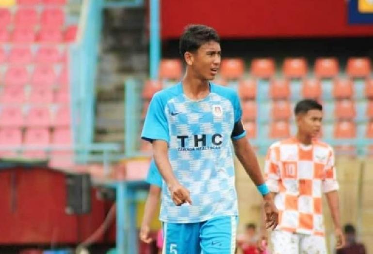 Jebolan SSB Persegatp Ulakan,  Bintang Arrahim saat ikuti sebuah pertandingan sepakbola beberapa waktu lalu. (Dok : Istimewa)