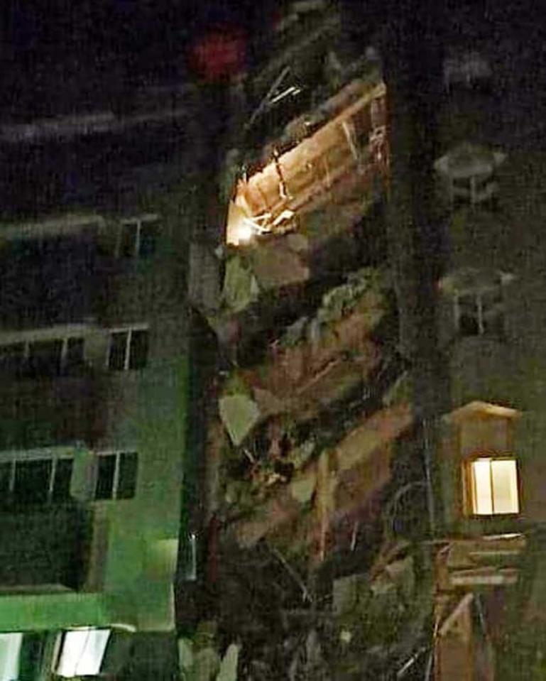 Kondisi Hotel Maleo di Mamuju yang rusak berat akibat gempabumi yang menggundang kabupaten itu, Jumat dini hari (15/1). (Dok : Istimewa)