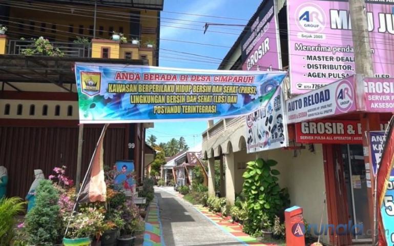 Kawasan Lingkungan Bersih dan Sehat Desa Cimparuah Kota Pariaman. (Dok : Istimewa)