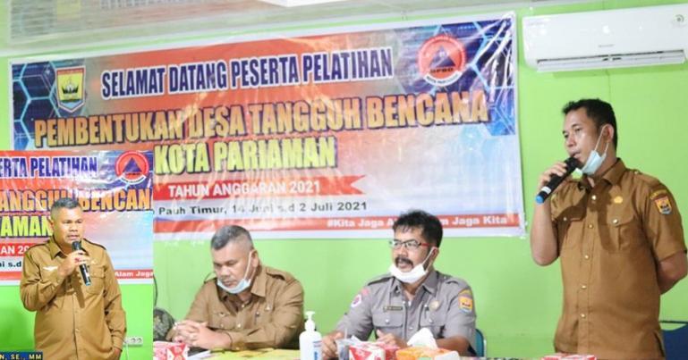 BPDB Pariaman saat menggelar kegiatan pembentukan desa tangguh bencana untuk kota itu, Senin (14/6). (Dok : Istimewa).