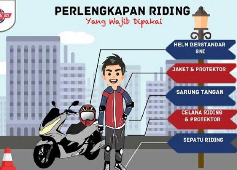 Ilustrasi safety riding. (Dok : Istimewa)