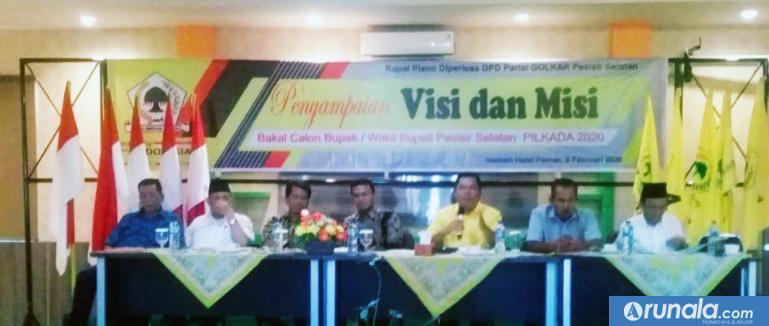 Empat pimpinan partai politik berebut dukungan Partai Golkar, di Pilkada Kabupaten Pesisir Selatan (Pessel). (tsp)