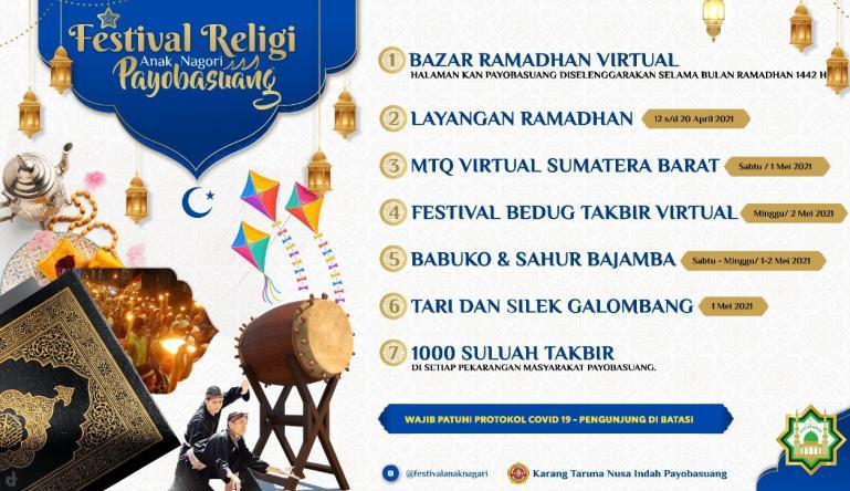 Festival Anak Nagari Payobasuang yang diadakan anak muda nagari setempat pada bulan Ramadan ini. (Dok : Istimewa)