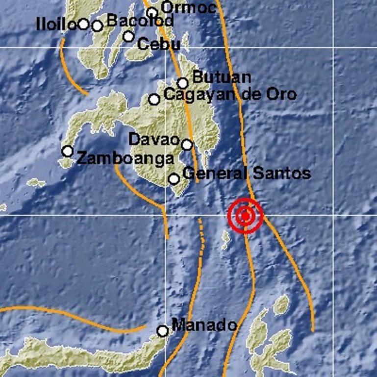 Lokasi gempa bumi yang terjadi di Kepulauan Talaud, Kamis malam (21/1) pukul 19.23 WIB. (Dok : Istimewa)