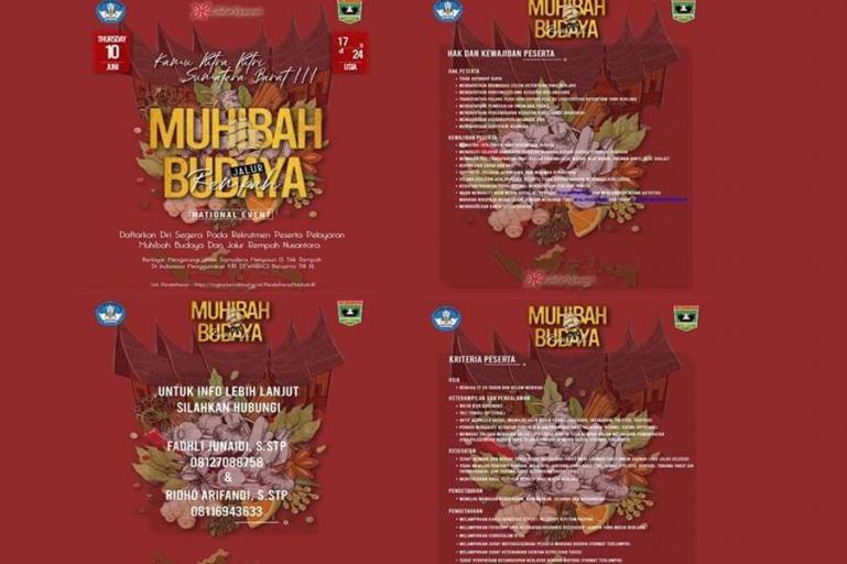 Brosur Pelayaran Muhibah Budaya Jalur Rempah yang diadakan Kemendikbud Ristek RI. (Dok : Istimewa)