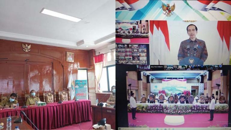 Zoom Meeting Penanda tanganan komitmen kerjasama antara PMA dan PMDN dengan pelaku UMKM di seluruh Indonesia, Senin (18/1). (Dok : Istimewa)