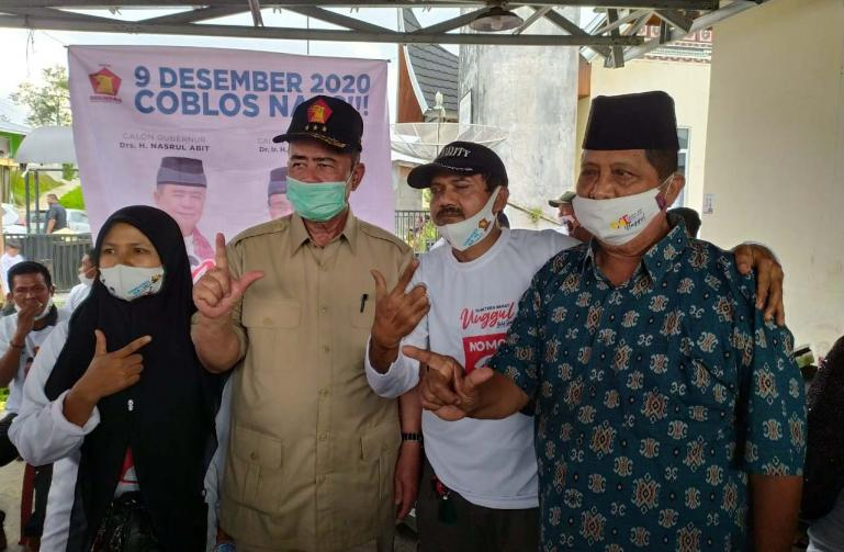 Cagub Nasrul Abit besar perantau Pessel yang tergabung dalam IKPS Bukittinggi, Senin (9/11). (Dok : Istimewa)