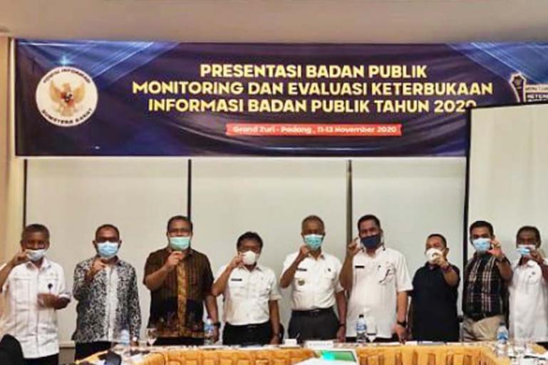 PPID Kota Pariaman saat presentasi keterbukaan publik dengan KI Sumbar, Rabu (11/11). (Dok : Istimewa)
