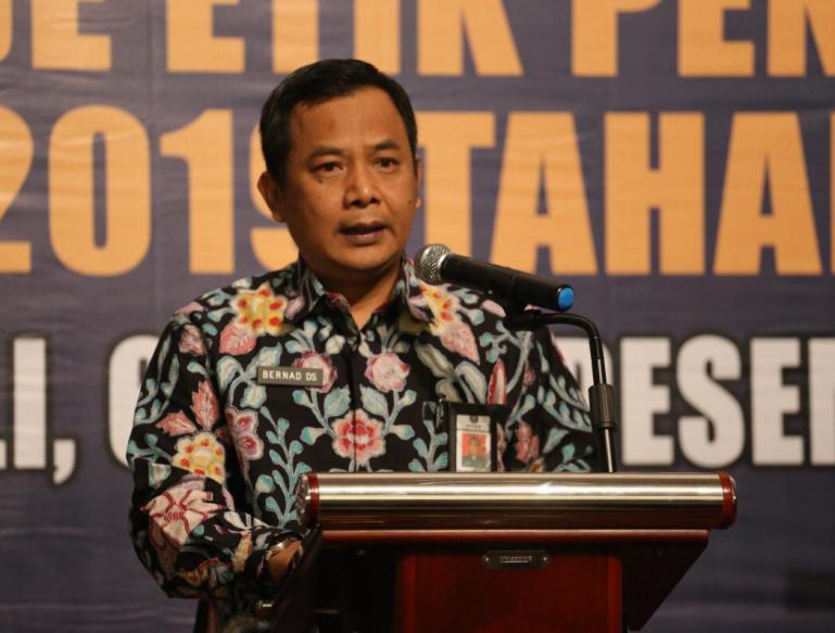 Sekretaris DKPP, Bernad Dermawan Sutrisno