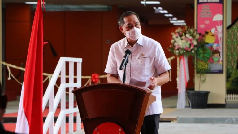 Menteri Perdagangan, Muhammad Lutfi beri sambutan saat peresmian Pasar Rakyat Pariaman, Selasa (6/4). (Dok : Istimewa)