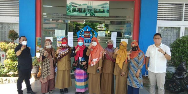 SMA 3 Padang bertekad rebut kembali prestasi Anugerah Keterbukaan Informasi Publik (KIP) 2020, Selasa (20/10). (Dok : istimewa)