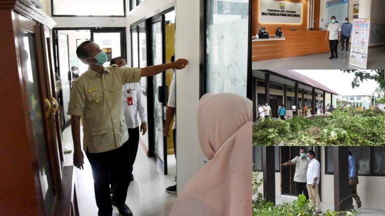 Wako Genius Umar saat sidak di dua OPD terkait penerapan pelayanan di kantor itu, Rabu (13/1)  . (Dok : Istimewa)