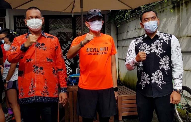 Menparekraf Sandiaga Uno bersama Wali Kota Pariaman, Genius Umar di suatu kesempatan di Jakarta. (Dok : Istimewa)