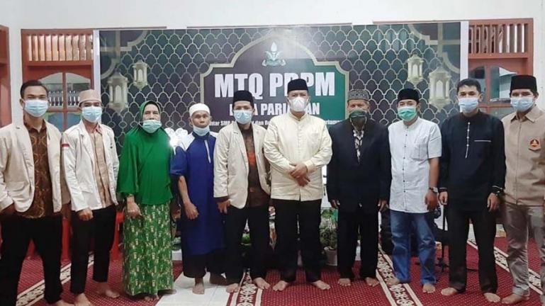 Wakil Wali Kota Pariaman, Mardison Mahyuddin saat menghadiri pembukaan MTQ tingkat SMP dan Remaja Masjid Kota Pariaman, Sabtu (1/5). (Dok : Istimewa)