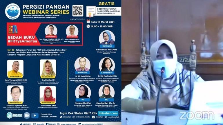 Plt Kepala Dinas Kesehatan Kota Pariaman, Nazifah saat jadi nara sumber dalam sebuah Talkshow, Rabu (10/3) siang. (Dok : Istimewa)