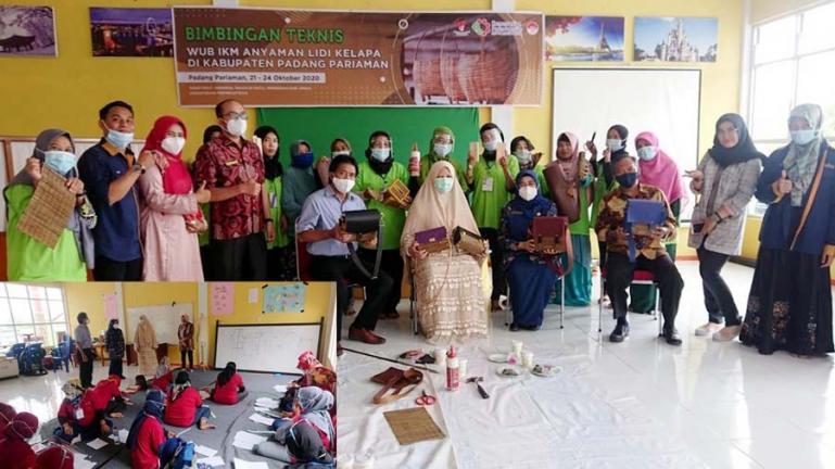 Anggota Komisi VI DPR RI, Nevi Zuarina membantu pelaku UMKM di Kota Pariaman dengan bimtek WUB IKM, Kamis (22/10). (Dok : Istimewa).