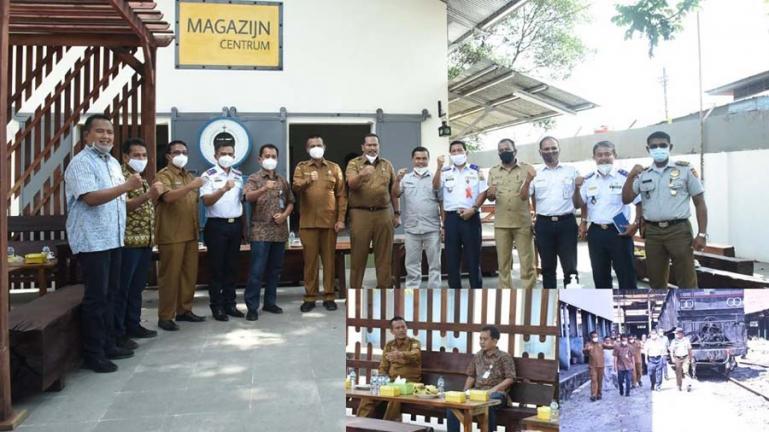Wali Kota Pariaman, Genius Umar dan rombongan OPD saat mengunjungi Divre II PT KAI Sumbar, Selasa siang (21/7). (Dok : Istimewa)