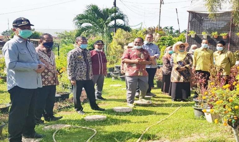 Wali Kota Pariaman, Genius Umar saat meninjau Balai Benih Induk Dinas Pertanian Tanaman Pangan dan Holtikultura Sumbar, Kamis (21/1). (Dok : Istimewa)