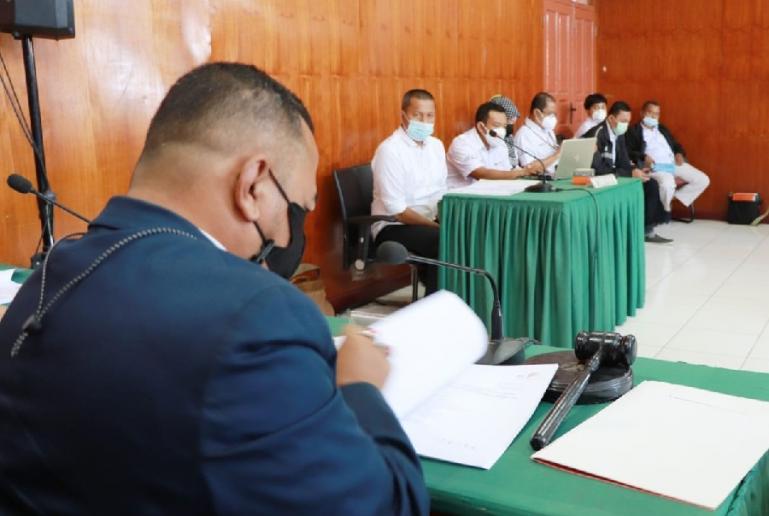 Majelis KI Sumbar sedang laksanakan sidang sengketa informasi pada Senin pagi (30/8). (Dok : Istimewa)