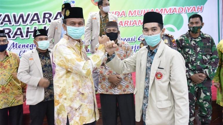 Wali Kota Genius Umar menghadiri Musda ke-V Pemuda Muhammadiyah Pariaman, Sabtu (23/1). (Dok : Istimewa)