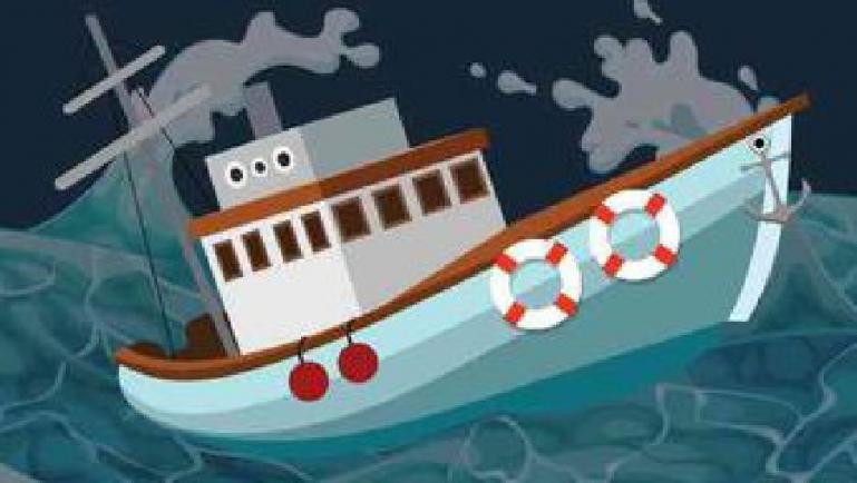 Ilustrasi perahu nelayan terbalik. (Dok : Istimewa)