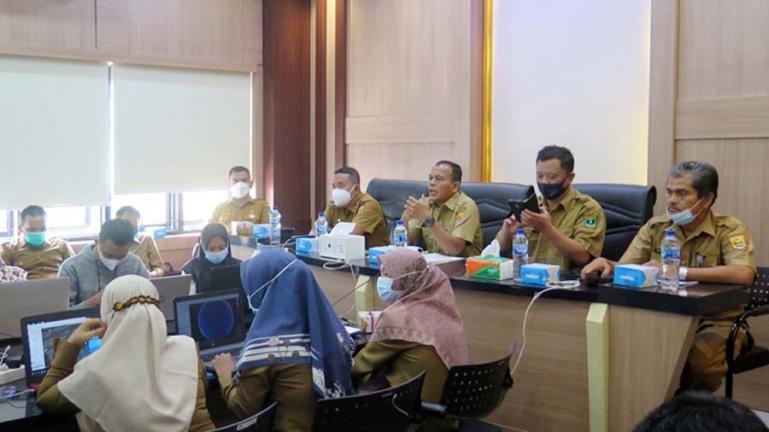 Pelaksanaan bimtek digatilisasi data wilayah yang diadakan Dinas Kominfo Pariaman, Selasa (10/8). (Dok : Istimewa)