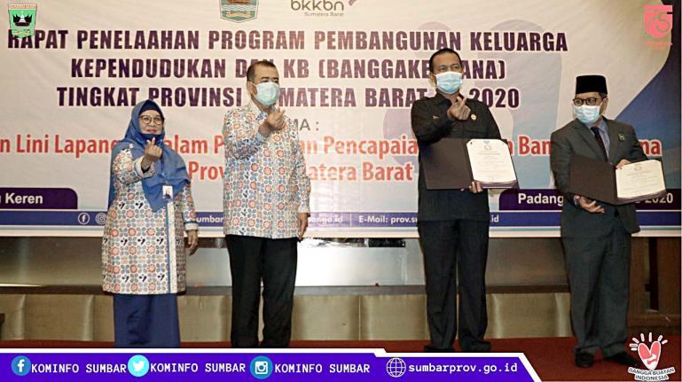 Wakil Gubernur Nasrul Abit saat peluncuran program Bangga Kencana yang dibuat BKKBN Sumbar, Selasa (18/8). (Dok : Istimewa)