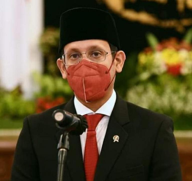 Mendikbudristek Nadiem Anwar Makarim seusai dilantik Presiden RI Joko Widodo di Istana Negara, Rabu (28/4). (Dok : Istimewa)