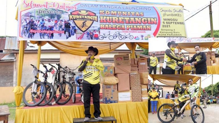 Ketua Dewan Pembina KKBP, Mardison Mahyuddin saat menghadiri KKBP Fun Bike, Minggu (5/9). (Dok : Istimewa)