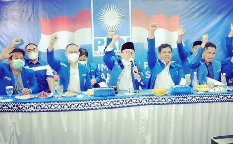 DPD PAN Pessel saat menggelar Musda V yang dibuka langsung Ketua Umum PAN Zulkifli Hasan secara virtual, di Painan, Sabtu (23/1). (Dok : Istimewa)
