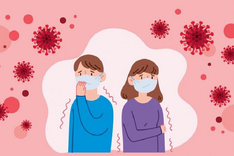 Ilustrasi virus corona dan gejala terinfeksi virus corona. (Foto : Shutterstock)