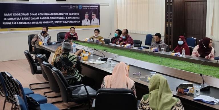 Rakor Dinas Kominfo se Sumbar yang diadakan di Kota Sawahlunto, Kamis (18/3). (Dok : Istimewa)