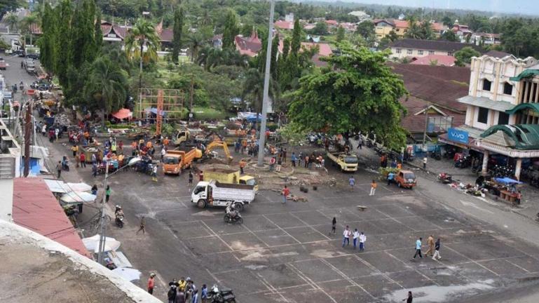 Terlihat kawasan Terminal Kampuang Pondok dalam pembenahan yang dilakukan Pemko Pariaman. (Dok : Istimewa)