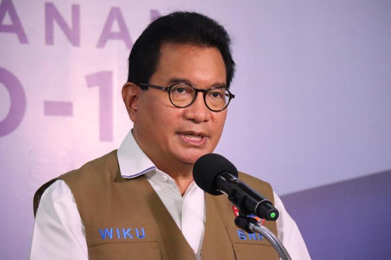 Foto insert : Jubir Satgas Penanganan Covid-19 BNPB, Wiku Bakti Bawono Adisasmito. (Dok : Istimewa)