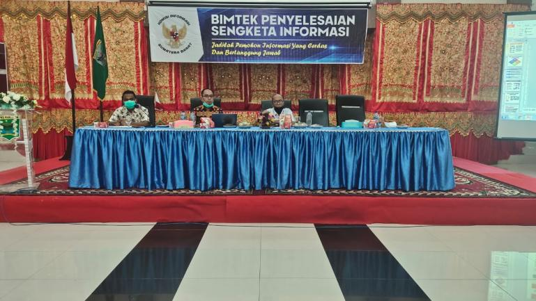 KI Sumbar bersama Komisi I DPRD Sumbar saat Bimtek penyelesaian sengketa informasi di Kabupaten Padangpariaman, Selasa (17/11). (Dok : Istimewa)