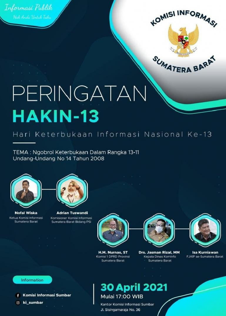 Komisi Informasi Sumbar gelar diskusi Keterbukaan Informasi Publik, Jumat (30/4). (Dok : Istimewa)