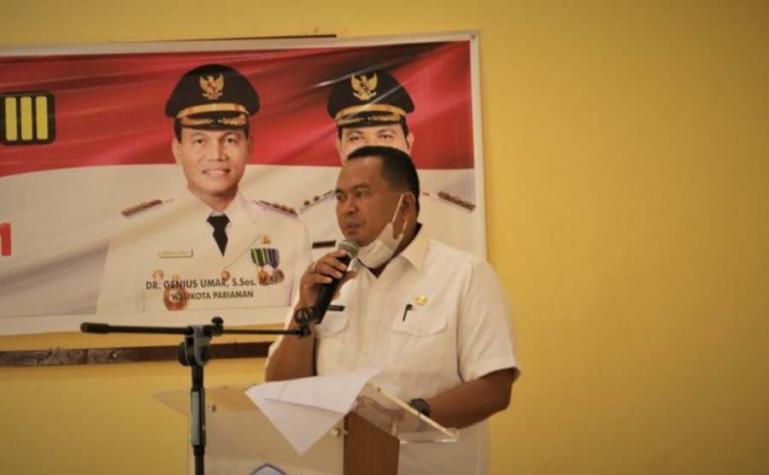 Sekko Pariaman, Yota Balad beri arahan saat membuka Latsar CPNS Pemko Pariaman, Rabu (9/6). (Dok : Istimewa)