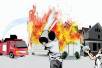 10 Unit Rumah Terbakar di Cangkeh Lubeg