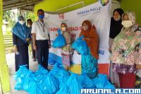 AP II BIM Sebar Ratusan Paket Sembako