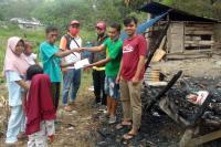 Audy Bantu Korban Kebakaran Uang Tunai dan Sembako