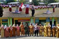 Edukasi Murid SDN 4 Desa Batang Tajongkek Soal Covid