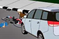 Empat Kendaraan Laka Beruntun, Dua Pelajar Luka-Luka