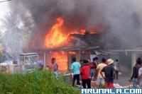 Empat Unit Rumah Warga Hangus Terbakar di Silaut